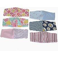 Dalay Cubrebocas de dama, paquete de 6 piezas, en tela, lavable, reversible, con filtro de seguridad armado en tres capas, durable