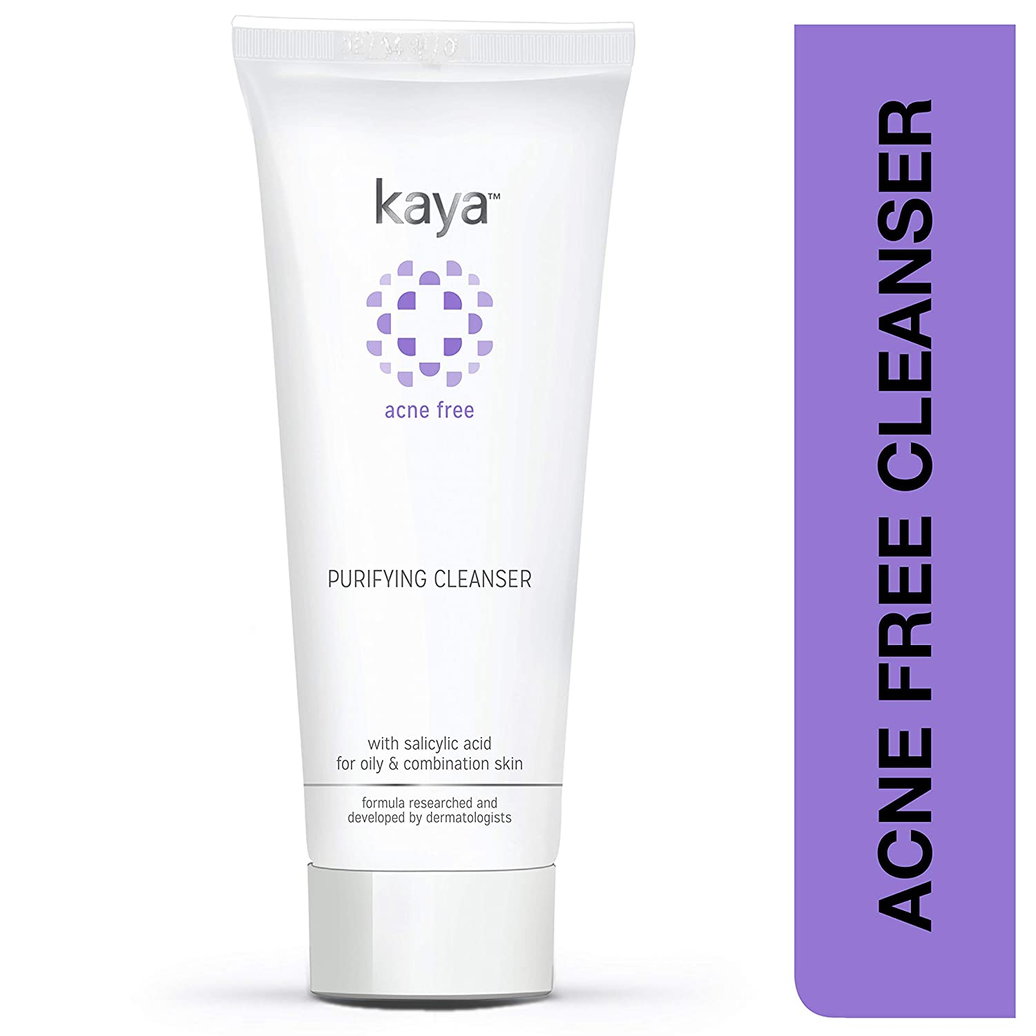 Kaya Clinic Purifying Cleanser, Salicylic Acid enriched face wash for acne-prone & oily skin