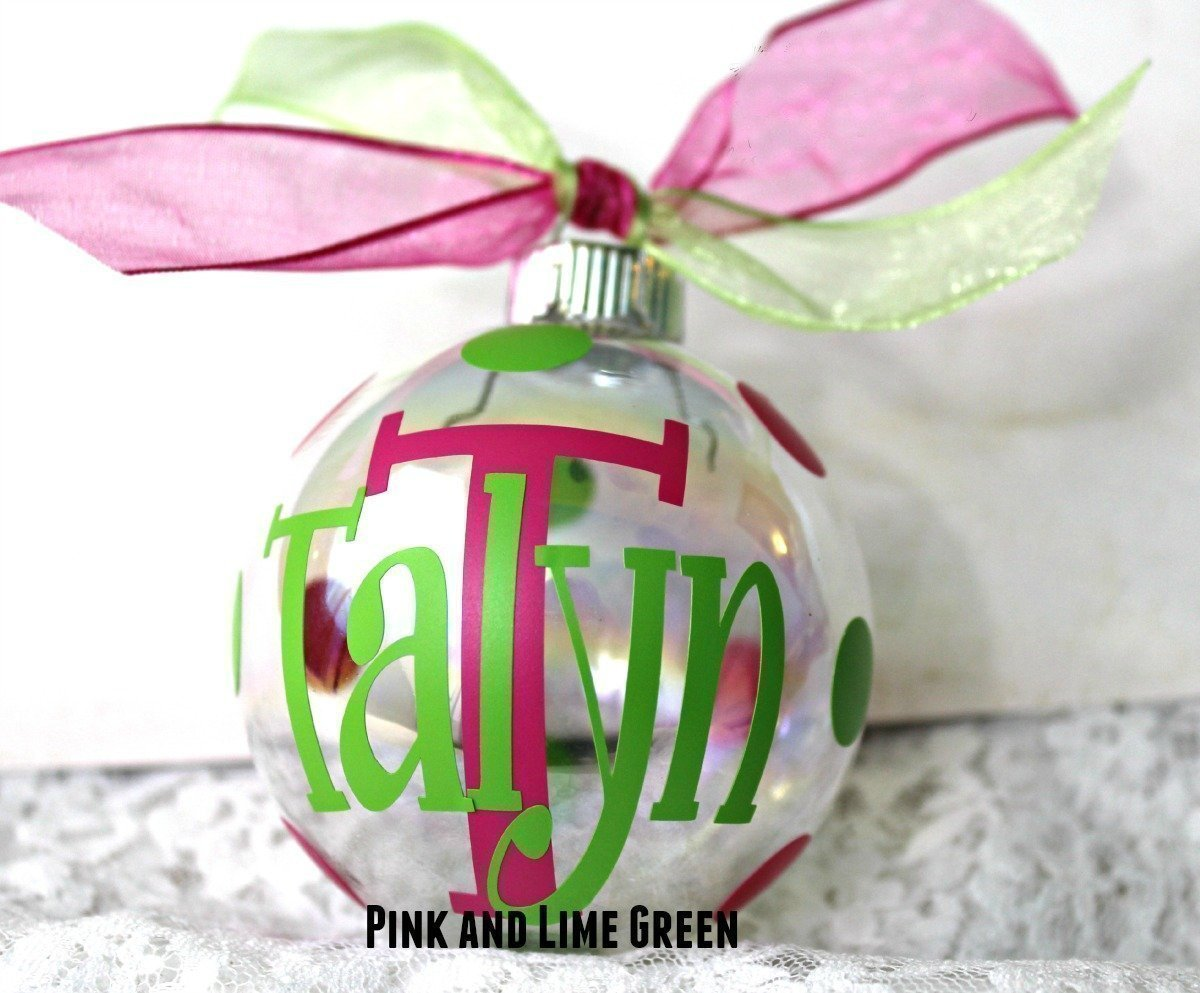 personalized christmas tree ornaments part 24 monogrammed  list