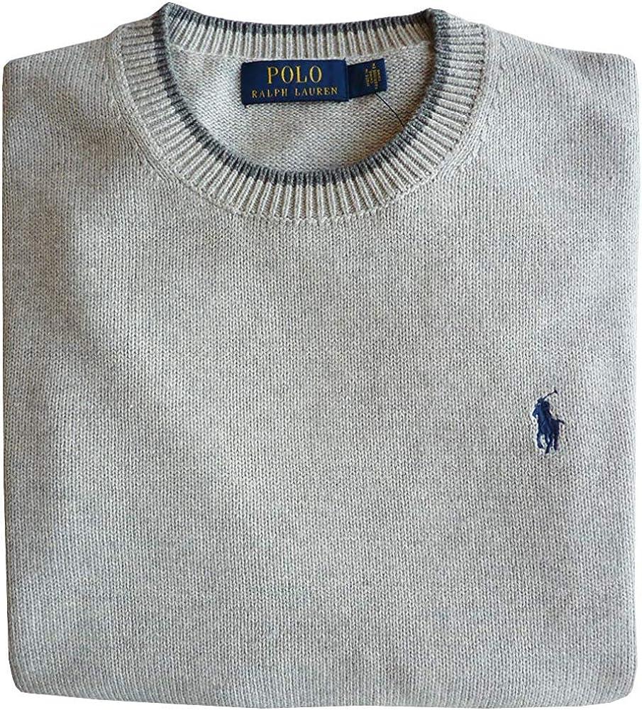 Polo Ralph Lauren Jersey, XXL, Flequillo Logo, Gris Htr: Amazon.es ...