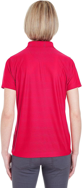 UltraClub Ladies' Cool & Dry Box Jacquard Performance Polo Shirt: Clothing