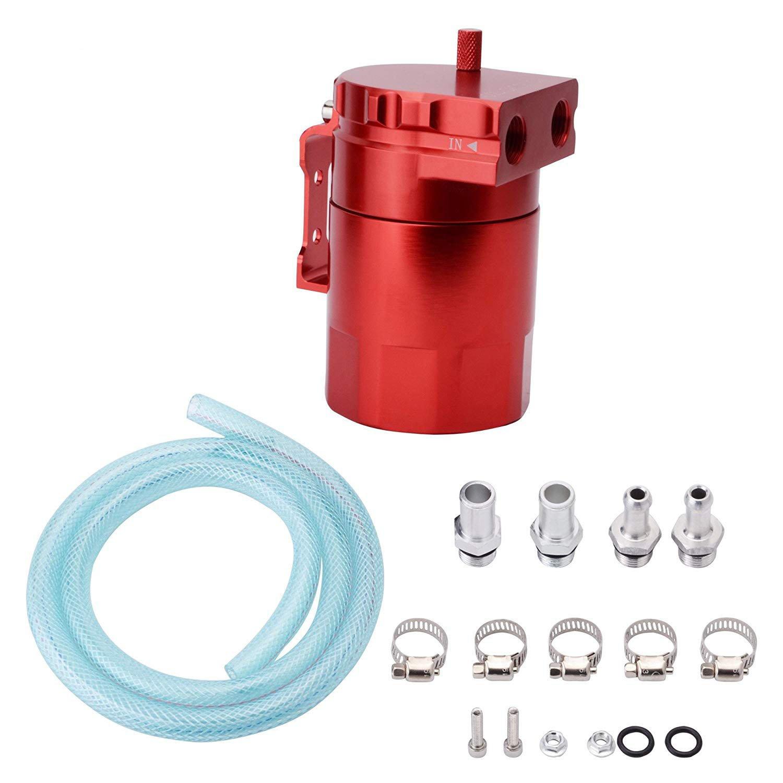 EVIL ENERGY 00590RD Red Universal Aluminum Oil Catch Reservoir Tank Breather Filter Kit 280ml Speedwow Tuning