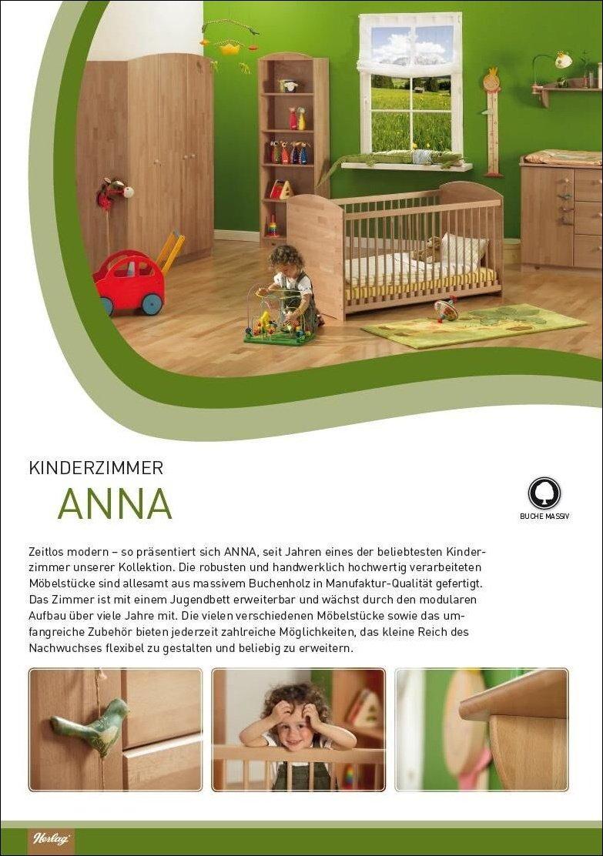 Herlag Kinderzimmer Anna 3 Teilig Buche Massiv 3 Turig