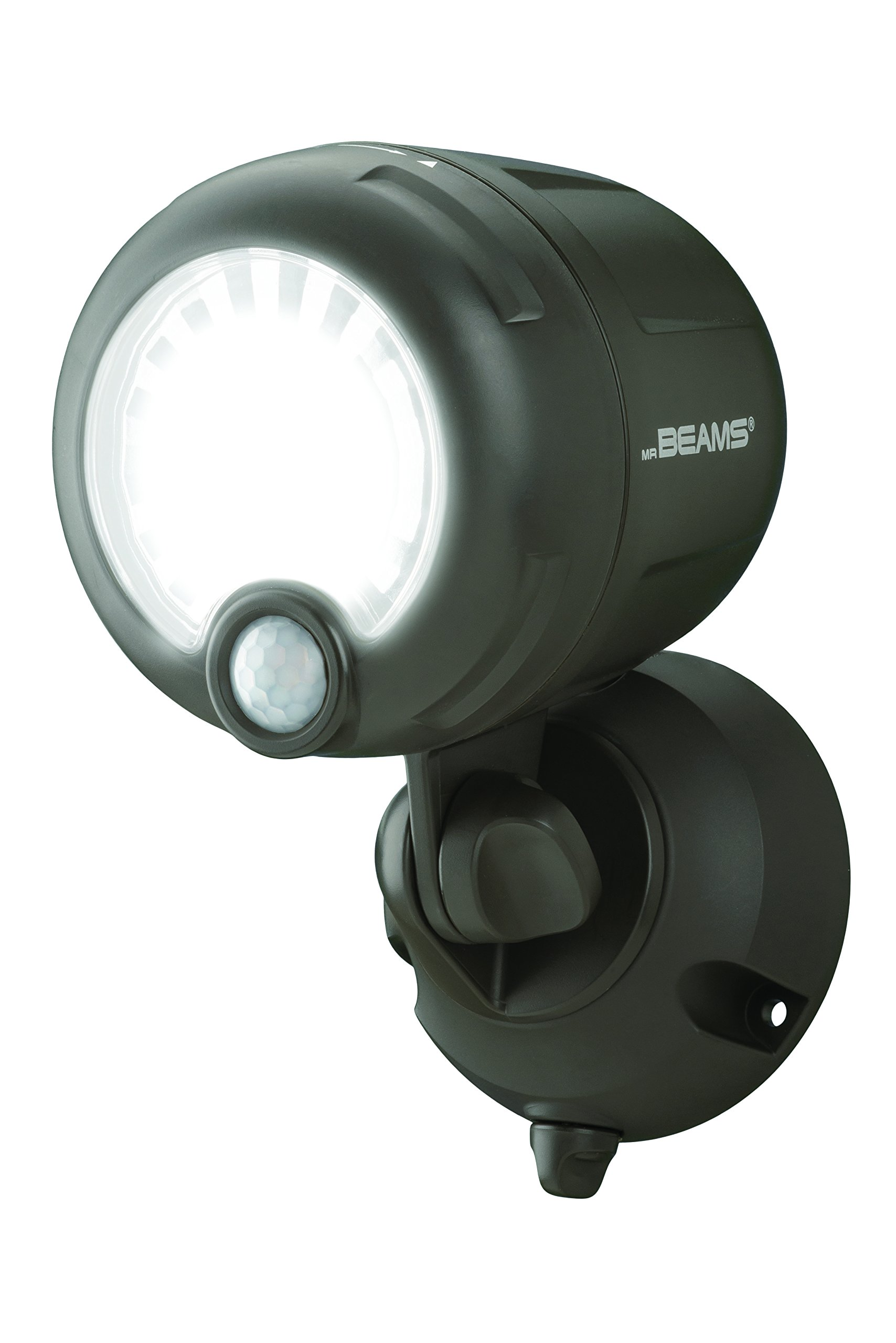 Mr. Beams MB360XT-Brn-01-00 Wireless 200 Lm Battery-Operated Outdoor Motion-Sensor-Activated LED Spotlight, Black