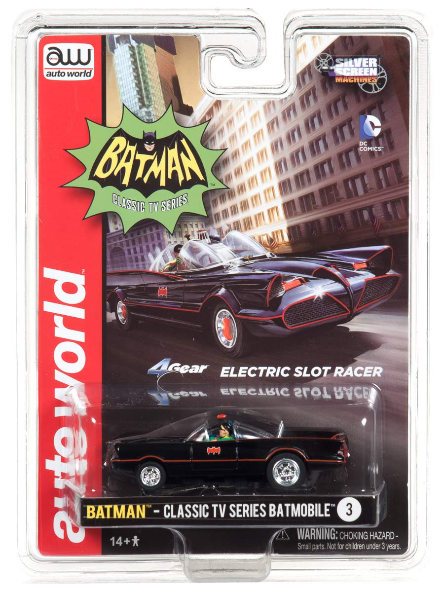 1966 Batmobile HO Scale Slot Car SC330-3 Auto World 4Gear Batman TV Series