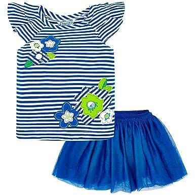 Mayoral Conjunto Camiseta y Falda Tul Rayas niña 3A: Amazon.es ...