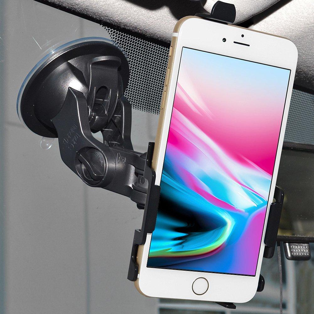 Black Amzer iPhone 8 Plus Cell Phone Car Mount