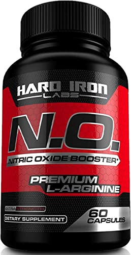 Nitric Oxide Booster – Nitric Oxide Supplement with L Arginine L Citrulline for Muscle Building, Vascularity, Pumps, Energy, Heart Health – NO Booster Pre Workout – 60 Capsules