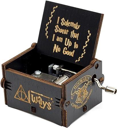 Hedwigs Theme Harry Potter caja de música, de madera tallada antigua, manivela de mano, cajas musicales para niños cumpleaños: Amazon.es: Hogar