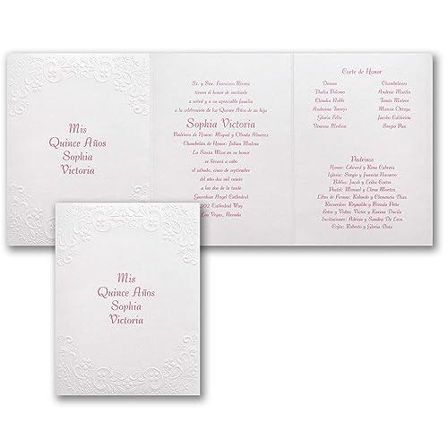 Amazon.com: 475pk Shimmering Pearls - Invitation-Quinceañera ...