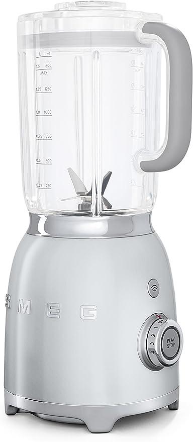SMEG Batidora BLF01SVEU, 800 W, 1.5 litros, Vidrio, 4 Velocidades ...