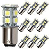 GRV Ba15d 1076 1142 High Power Car LED Bulb 13-5050SMD DC 12V Cold White Pack of 10