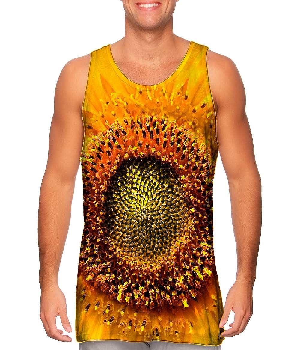 Tshirt Mens Tank Top Yizzam Summer Yellow Sunflower