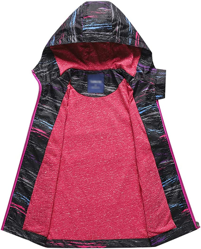 YoungSoul Boys Printed Waterproof Jackets Fleece Lined Raincoat