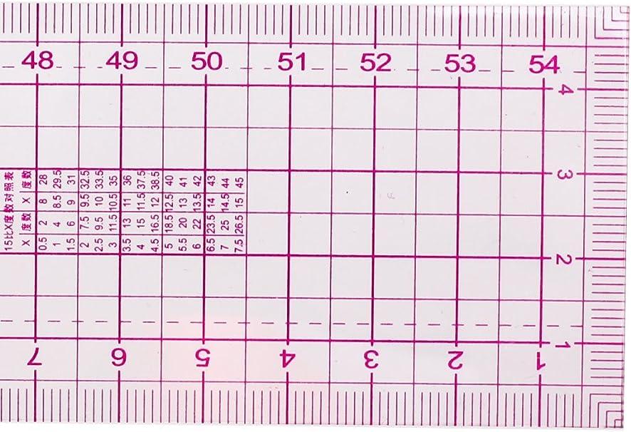 Costura 54cm Lados Dobles Multi Precisi/ón M/étrico Regla Recta 2 PIEZAS