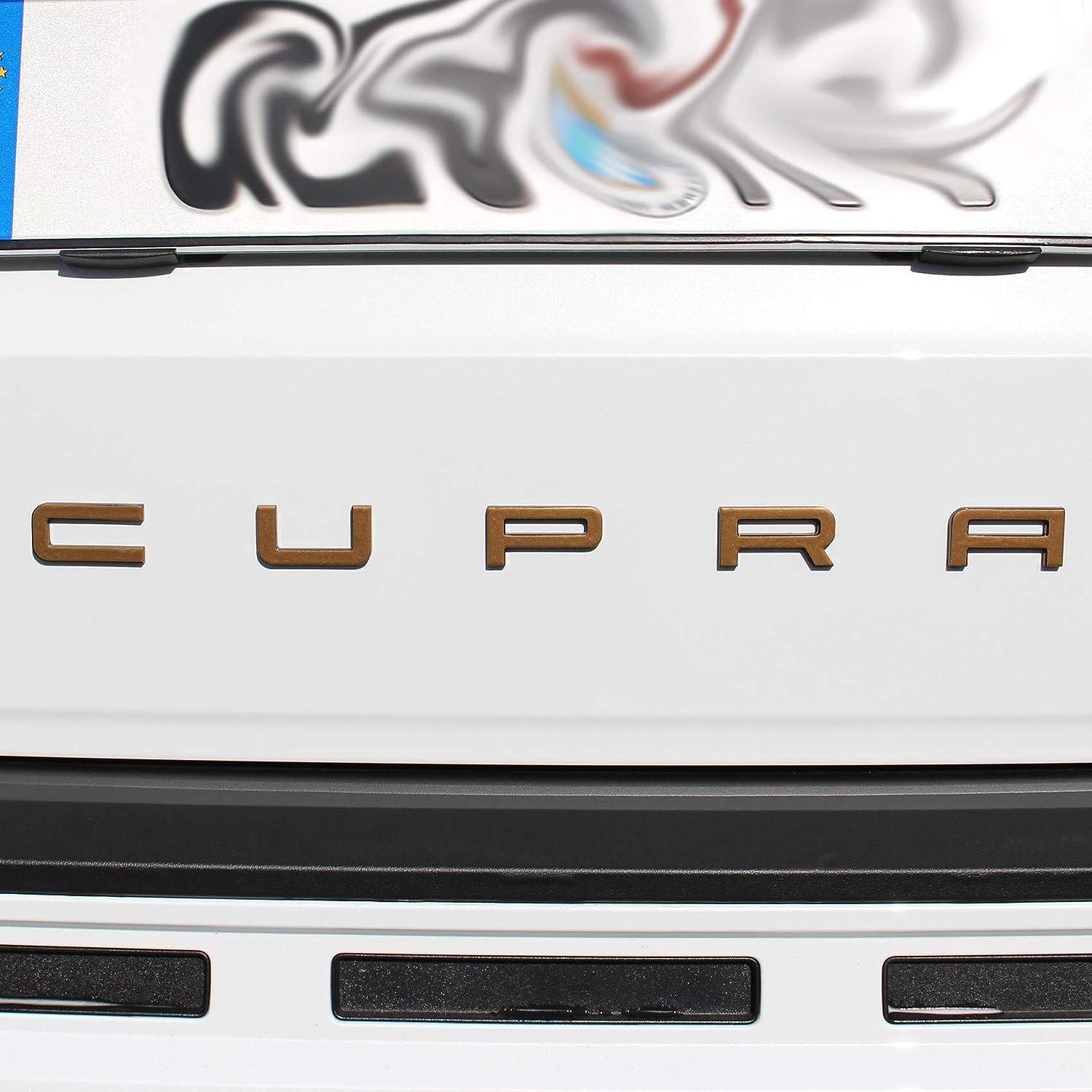 L/ámina adhesiva para emblema SE09 Carbon negro Cupra