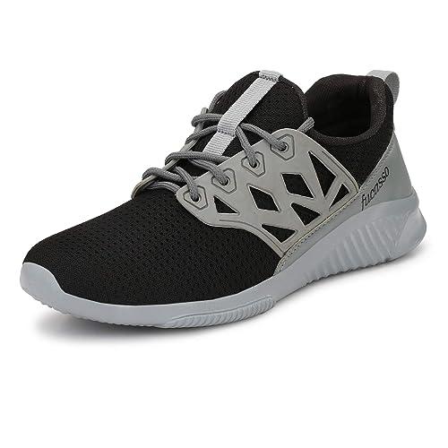 d3581d3d3d1892 FUCASSO Men s Smart Fit Grey Red Sports Shoes (10 UK)  Buy Online at ...