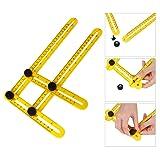 Multi Angle Measuring Ruler, Ultimate Template Tool Angle Measurement Tool for Craftsmen, Builders & Handymen