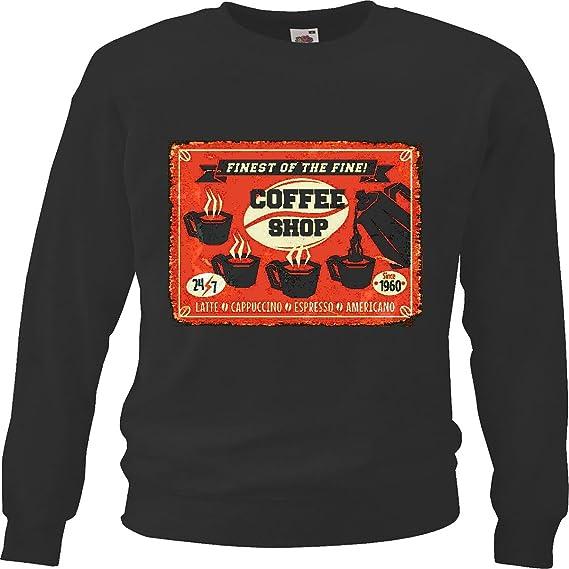Sudaderas Suéter CAFÉ Expresso Expresso CAFETERÍA máquina de Capuchino Latte Dieta de Adelgazamiento CALORÍAS Figura Aptitud IMC ENGRASAMIENTO Dick Delgado ...