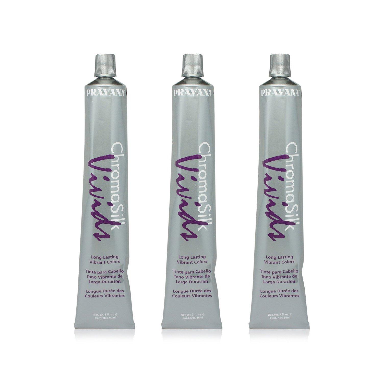 Pravana Chromosilk Vivids Hair Color (3 Pack) (Vivid Violet) by Pravana (Image #2)