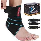 Ankle Brace for Women & Men - Ankle Brace Stabilizer - Ankle Brace for Women Sprained Ankle,Running Ankle Brace,Adjustable An