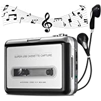 TERAX Cassette Player Portable Walkman Cassette Tape Player Tape Converter to MP3/WAV/CD via USB