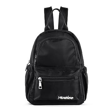 fdef1aba1edca Katloo Damen Rucksack Mini Backpack Klein Rücksack Nylon Tagespackung Wasserdicht  Cabrio Schulter Gurt Brusttasche Schlinge Taschen