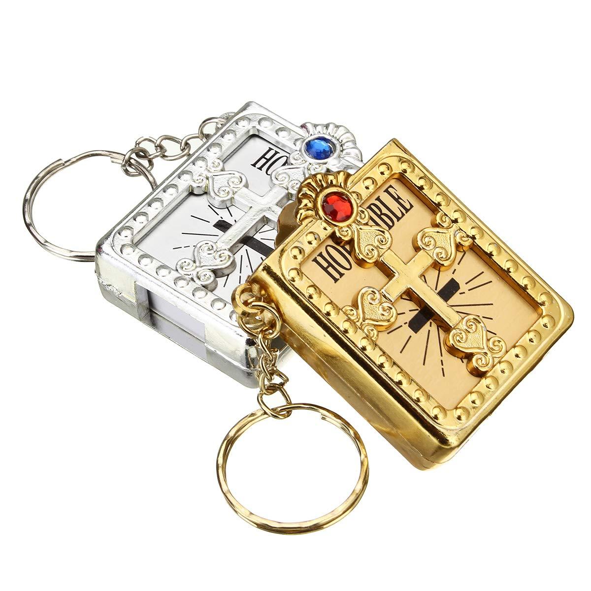 Tutoy 12 Stück Mini Bibeln Schlüsselbund Taufe Begünstigt Recuerdos Bautizo Kommunion Schlüsselanhänger Gewerbe Industrie Wissenschaft