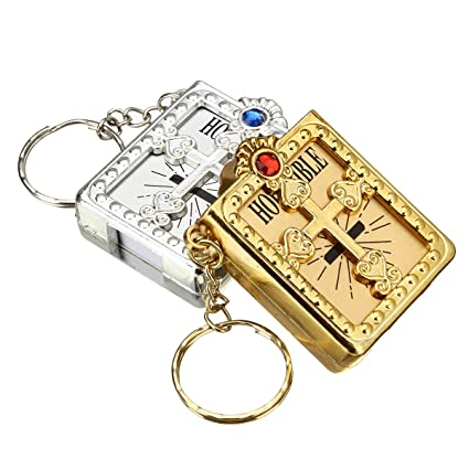 Amazon.com: Tanchen 12Pcs Mini Bibles Keychain Baptism ...
