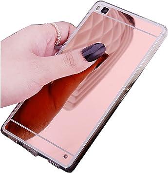 LXHGrowH Fundas Huawei P8 Lite, [Ultra Delgada] Carcasa con Espejo ...