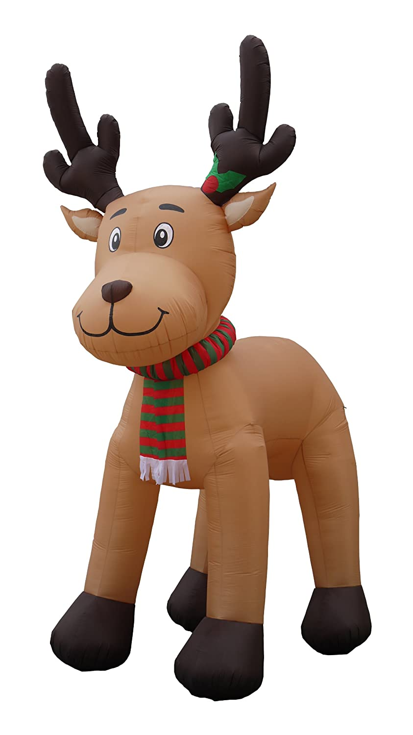 amazon com jumbo 15 foot christmas inflatable reindeer decoration