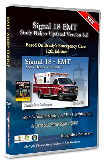 EMT Study Helper Software Version 6 0 - Knightlite - Based on Brady  Emergency Care 12th Edition