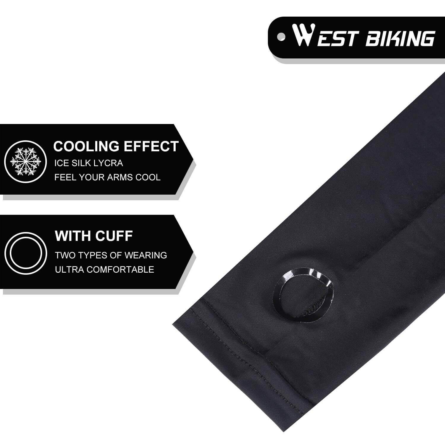 Moisture Wicking UV Protection Cooling Silky Cover for Running Cycling Compression Anti-slip Arm Sleeves with Thumb Holes