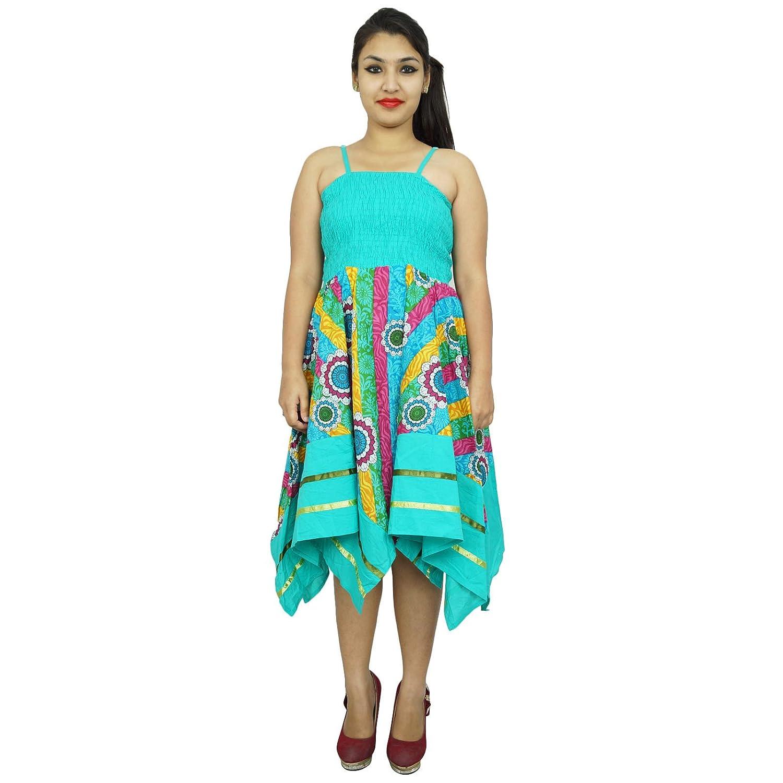 Beiläufiges Sommer-Kleid Floral langen Größe XS Frauen-Partei-Wear Strand Sundress