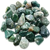 """Tumbled Moss Agate (Mostly 5/8"""" - 1"""") - 25pc. Bag"""