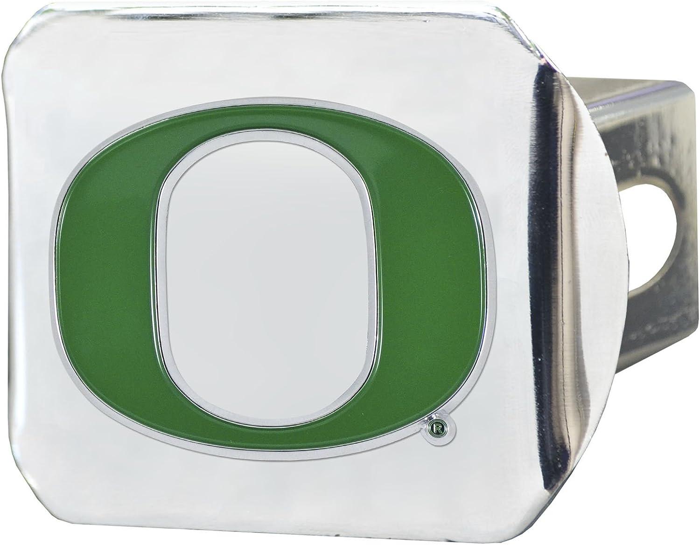 Chrome Hitch Cover Auto Accessory CC Sports Decor NCAA University of Oregon Ducks Color Class III Hitch