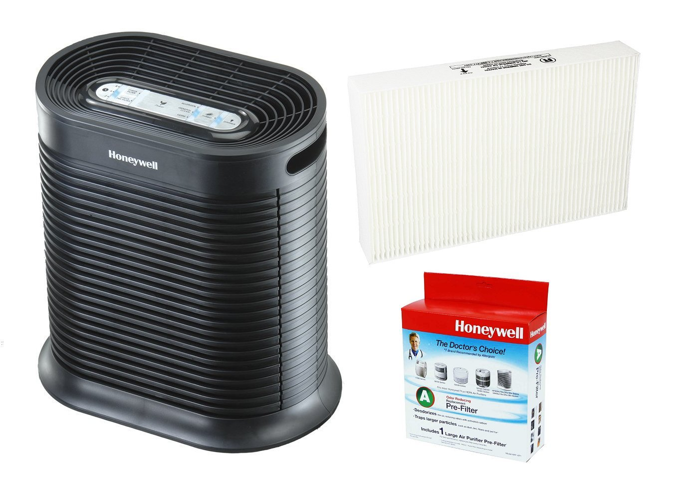 Honeywell HPA100 True HEPA Allergen Remover, 155 sq. ft. Includes Extra HRF-R1 Filter and HRF-AP1 Pre-Filter