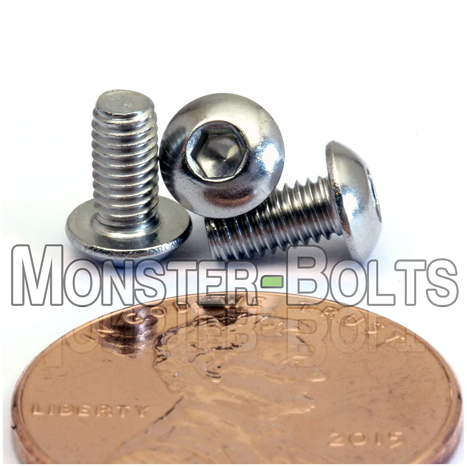 3mm x 0.50 x 6mm Qty 20 A2 Stainless Steel BUTTON HEAD Screws ISO 7380 M3