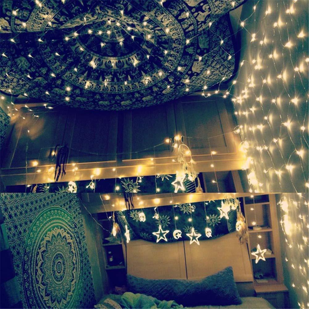 He-shop Luce di Rete LED Impermeabile Indoor Outdoor Albero di Natale Hotel Decorazione di Festa Blu Rosso Bianco Caldo Stringa di Luce Bianca 6  4, 8  10