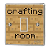 the grafix studio Computer Crafting Room Light Switch Sticker Vinyl/Skin cover, sw147