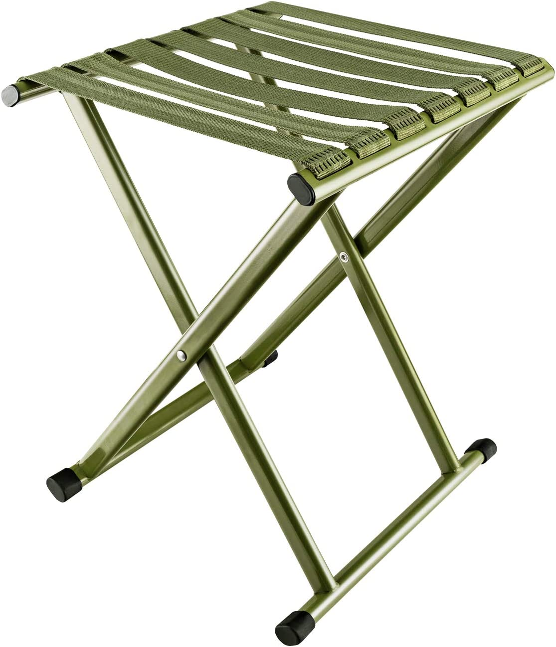 E-jades Folding Camp Stool 17.9in Height Comfortable foldable,Hold up to 650lbs,Heavy Duty Camping Chair,Outdoor Big Tall Portable adults for Fishing,Hunting,Sitting,Large Seat for Heavy Weight People