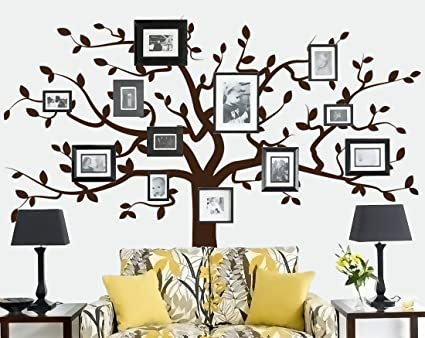 Family Tree Decal (Large Tree Decal - Frames and Photos not included ...