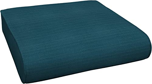 Honeycomb Indoor Outdoor Sunbrella Dupione Deep Sea Deep Seating Chair Cushion Recycled Polyester Fill Patio Cushions 23 L x 24 W x 6 H