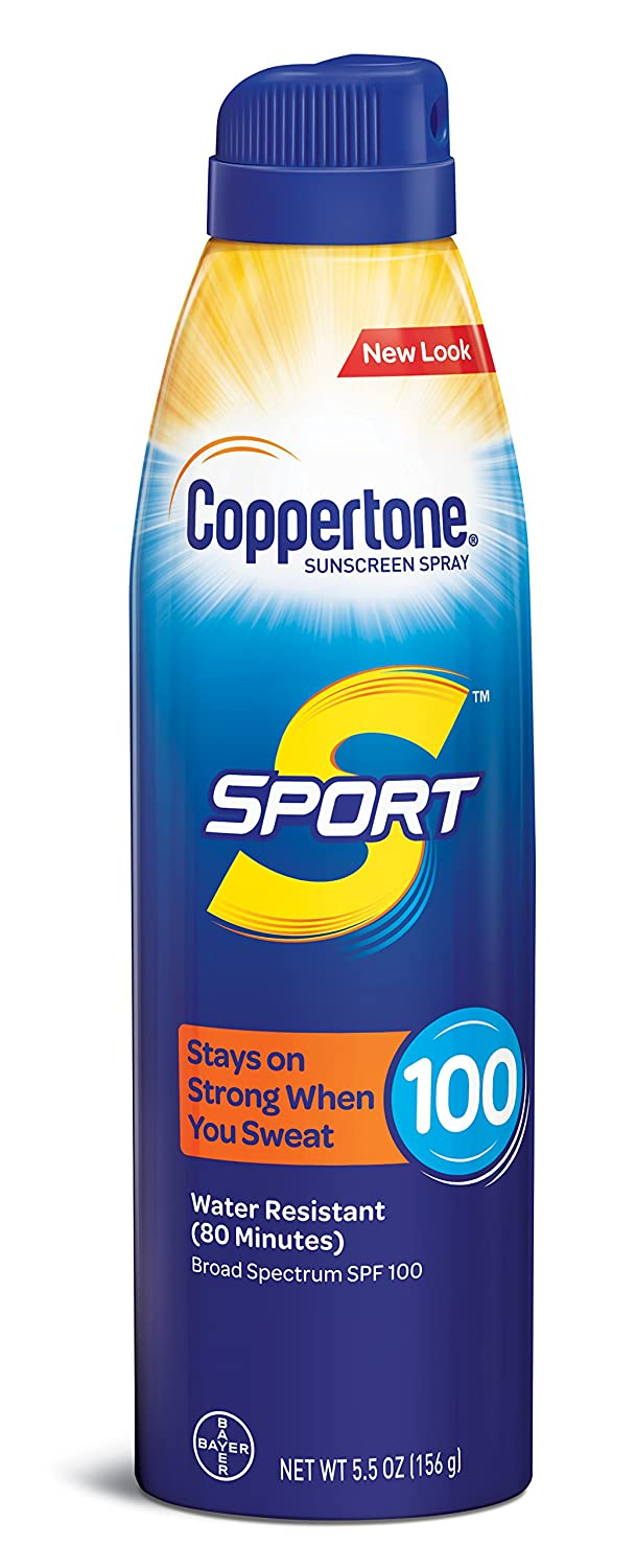 Coppertone Sport Broad Spectrum Spf 100 Heigh Performance Continuous Sunscreen Spray, 5oz