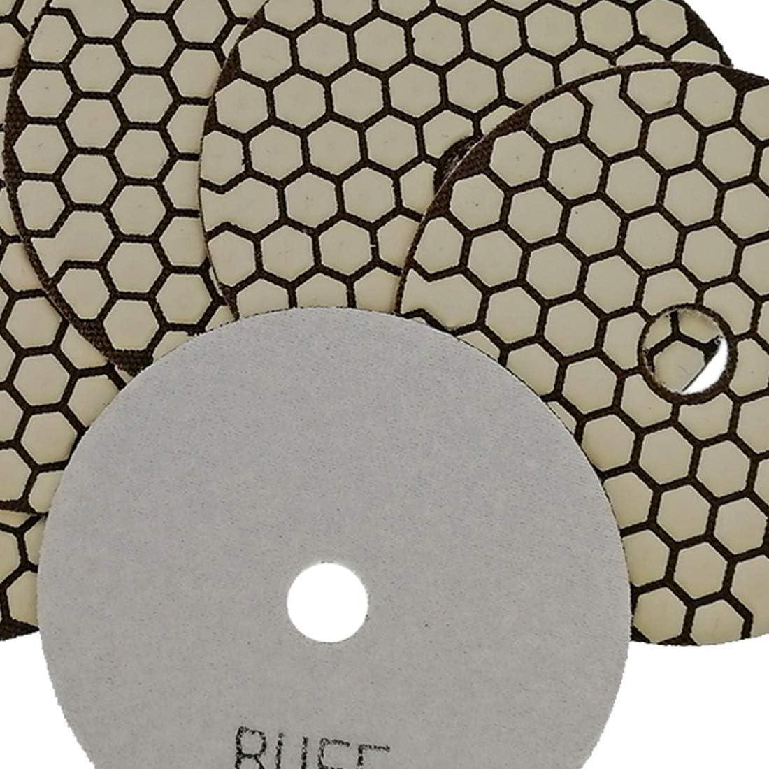 100mm Sec Diamant Polissage Pads pour Marbre Granite Pierre B/éton SHDIATOOL 7Pcs Disque Diamant de Polissage 4 Pouces Grains M/élang/és