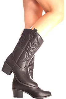 Forever Link Suede Material Side Zipper Buckle Strap Fur Trim Accent Chunky High Heel Booties