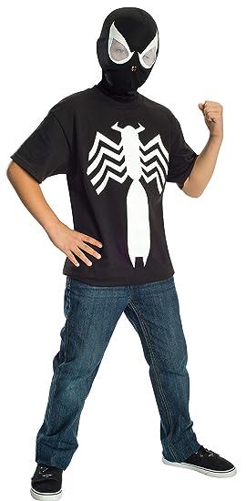 Rubies Ultimate Black Spider-man / Venom T-shirt and Mask, Child Medium - Child Medium One Color