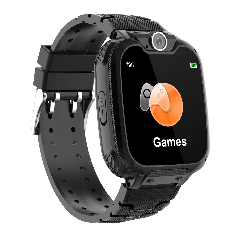 Winnes Reloj Inteligente para Niños, Niña La Musica y 7 Juegos Smart Watch Phone, 2 Vías Llamada Despertador de Cámara para Reloj Niño y Niña 3-12 ...