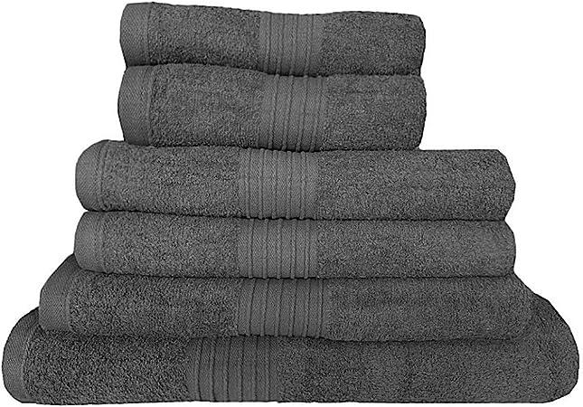 Toallas de algodón egipcio, 700 gsm, toallas de baño de lujo, tamaño grande, supersuaves, algodón peinado, muy absorbentes, de alta calidad, 7 colores disponibles, gris oscuro, Toalla de baño Jumbo: Amazon.es: Hogar