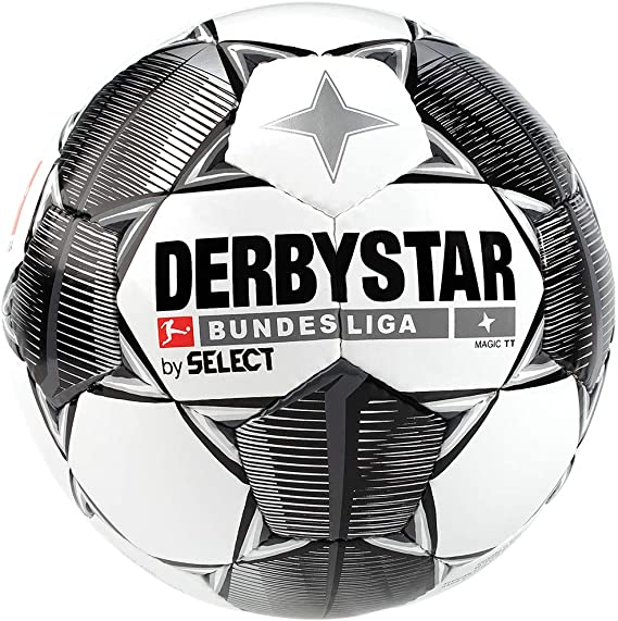 Derbystar Bundesliga Magic TT Balón de fútbol, Color Blanco, Negro ...